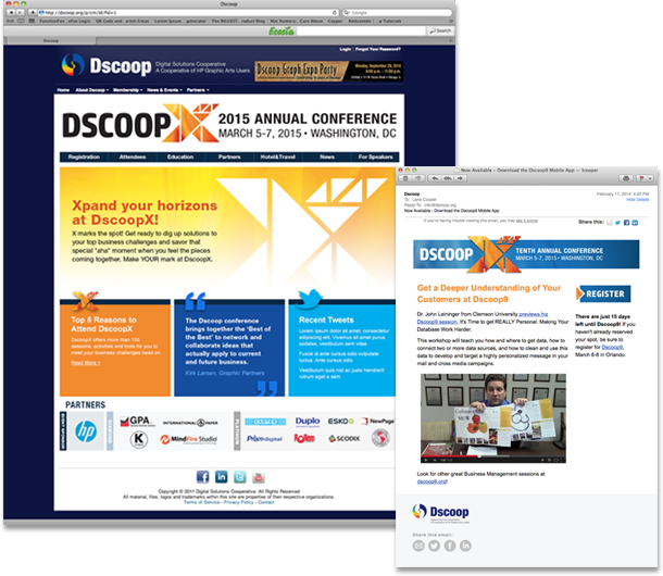 DscoopX Website and Email Template
